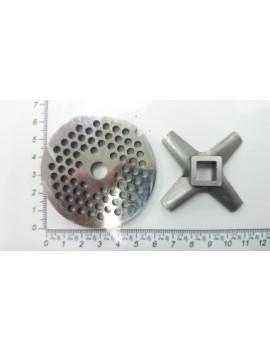 Комплект нож и решётка для мясорубок MOULINEX #8/4 (10188)