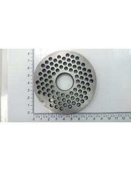 Решётка мясорубки МИМ-300, 350 - ячейка 5мм / отв. под бурт ножа (10402)