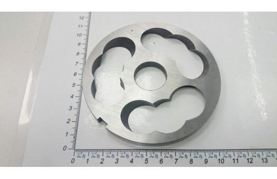 Подрезная решётка мясорубки УКМ М-600 - (600 кг/ч) отверстие под бурт (10606)