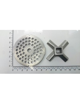 Комплект нож и решётка мясорубки MOULINEX (KRUPS) #8/4 (10341)