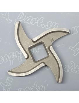 Нож мясорубки Assum #12 - квадрат 12x12mm (10016)