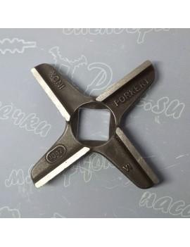 Нож крестовой мясорубки Assum #12 - квадрат 12x12mm (16710)