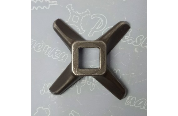 Нож крестовой мясорубки GASTRORAG #12 - квадрат 12x12mm (16710)