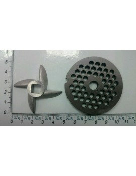 Набор мясорубки ЧУДЕСНИЦА нож 'сабля' и решётка стальная (10143)