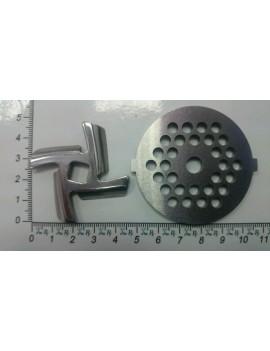 Комплект для мясорубки EVGO нож и решётка нержавейка (10298)