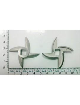 Нож мясорубки Электросила 'саблевидный' - квадрат 8mm (10001)